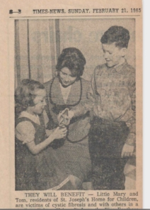 Little Mary and Tom CF patients of St. Joseph